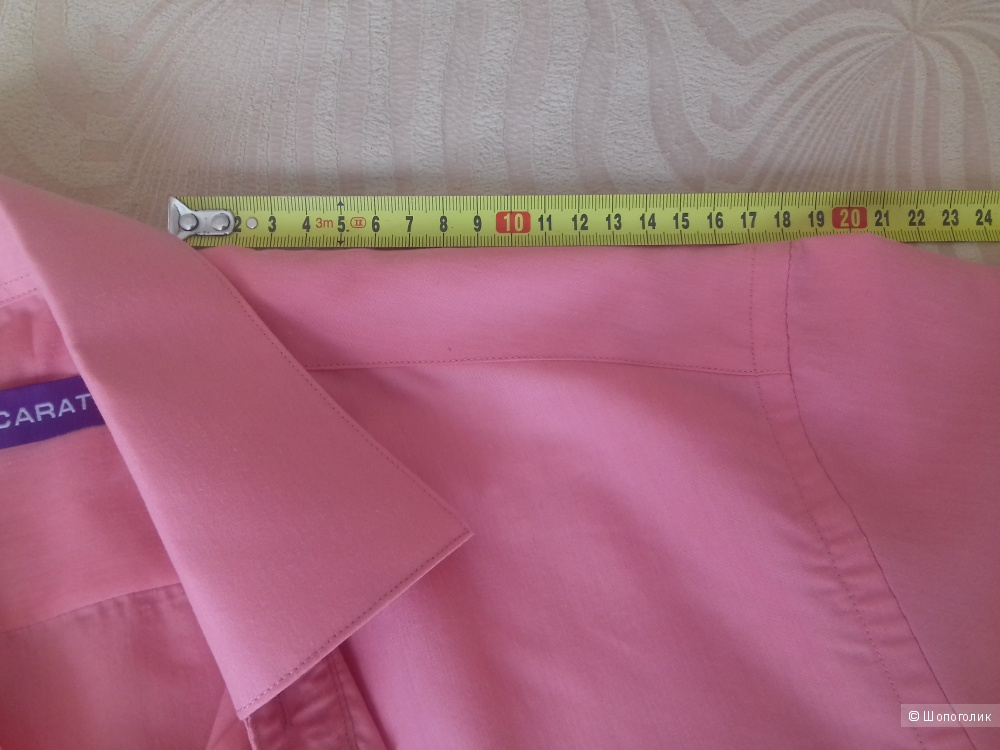 Мужская рубашка Carat, размер S (37/38), цвет коралловый-розовый