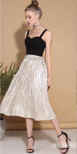 Плиссированная юбка, размер S
