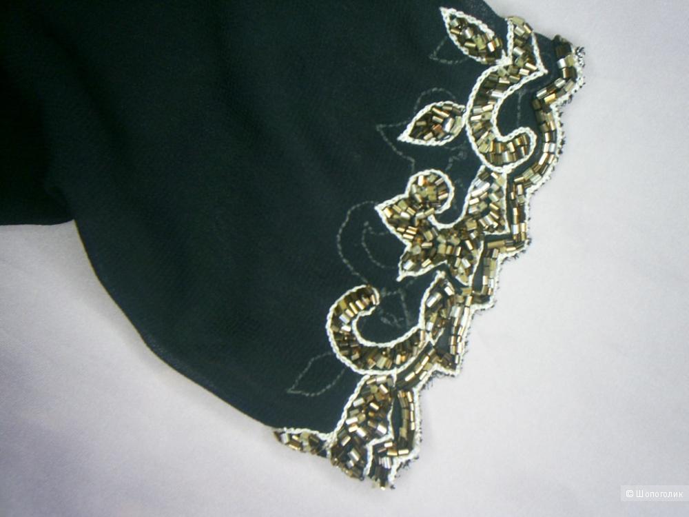Твинсет расшитый стеклярусом от Heather Valley размер 12 евр на 46-48 русс.
