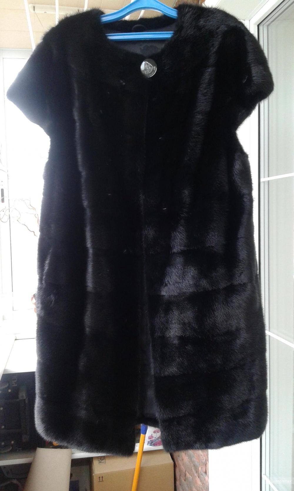 Жилет норковый длинный 44-46 размер