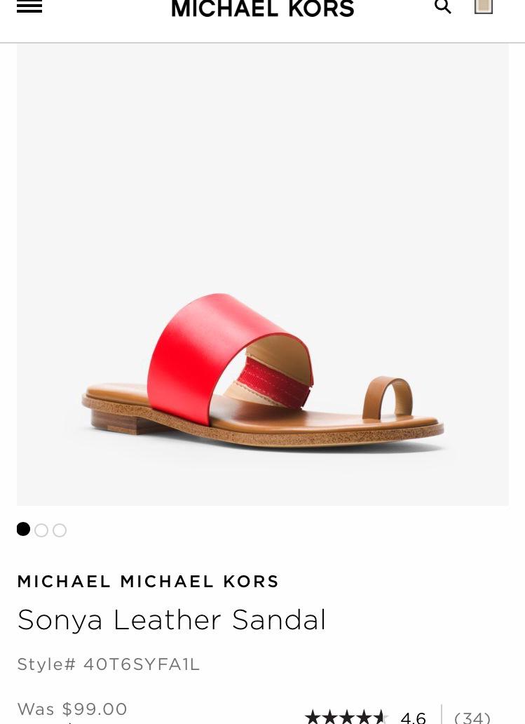 Шлёпки Michael Kors, размер 7,5.