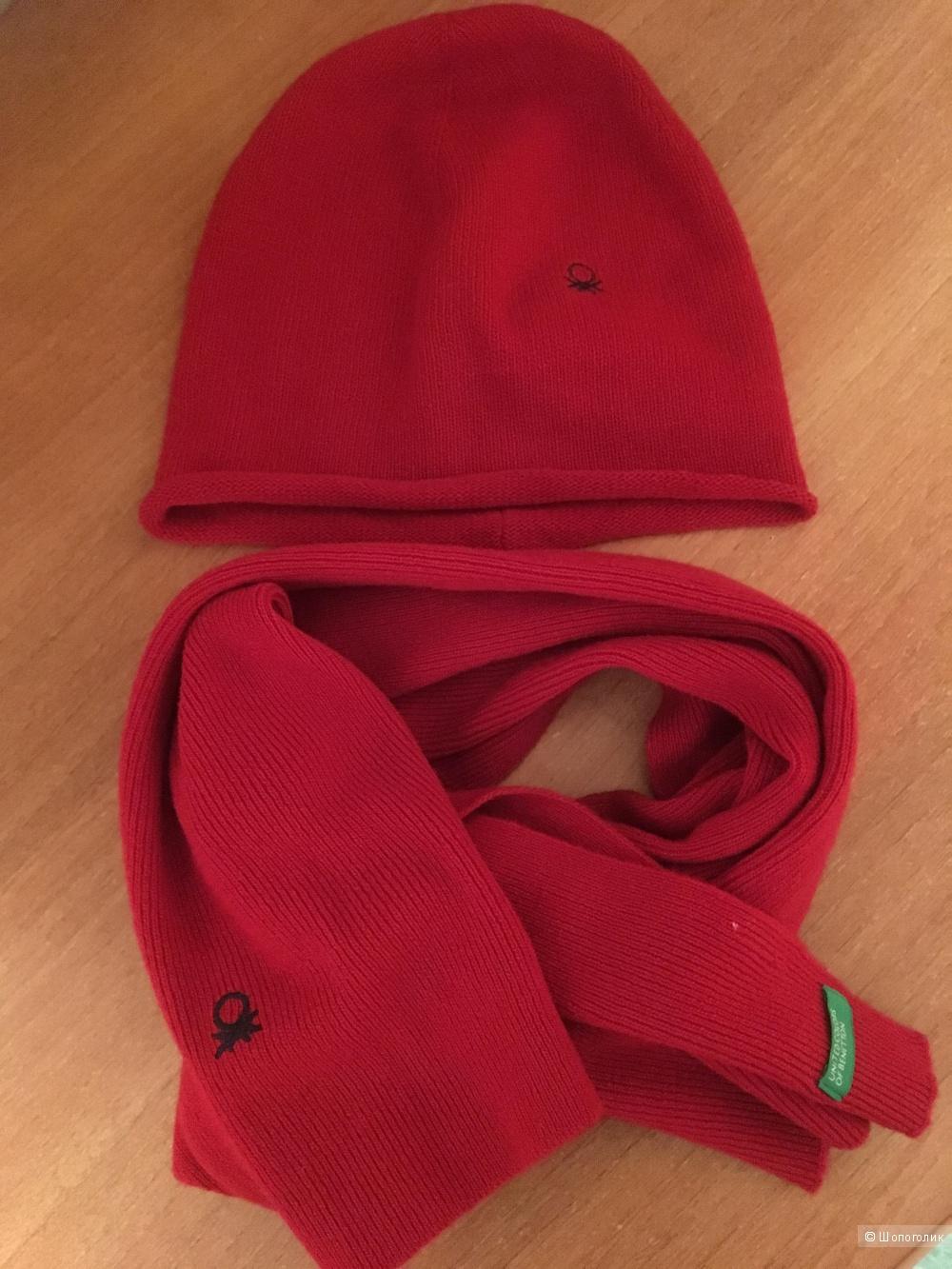 Комплект-  шапка и шарф Benetton, размер L