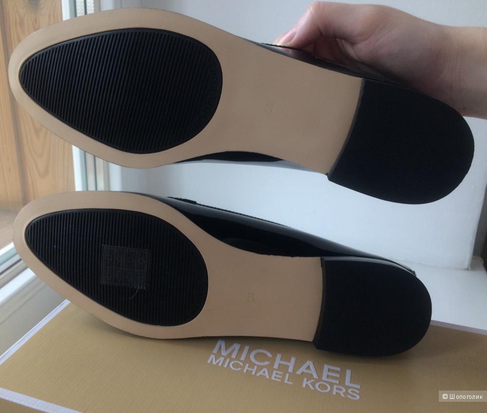 Лакированные кожаные лоферы Michael Michael Kors 39 р. (38.5 eur, 8 US)
