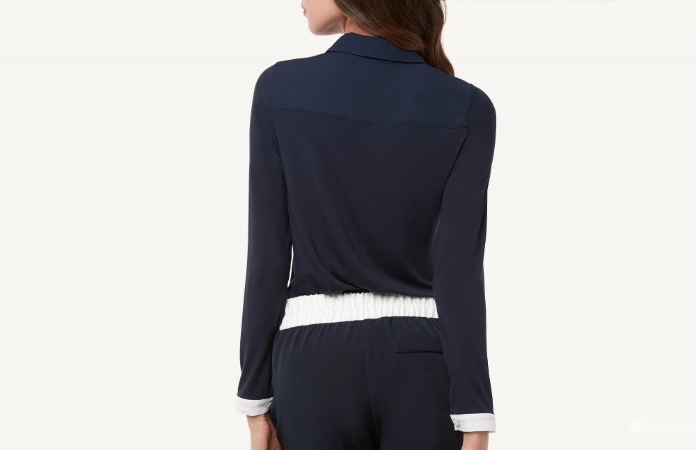 Рубашка темно-синяя с белыми акцентами Intimissimi размер S