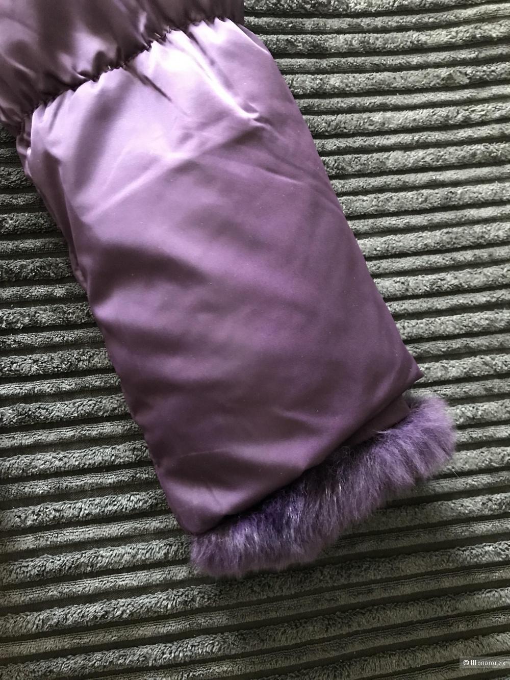 Легкий пуховик со съемной опушкой из кролика Gregory (размер S)