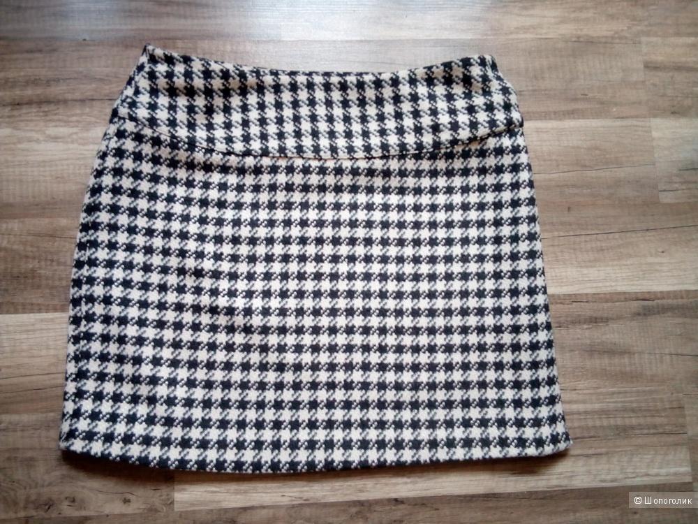 Тёплая мини-юбка Lime с запАхом 44-46 размер