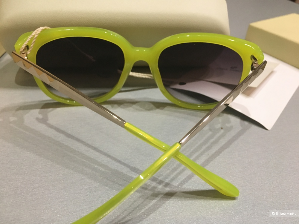Солнцезащитные очки LINDA FARROW with MATTHEW WILLIAMSON. Кислотно-зеленый