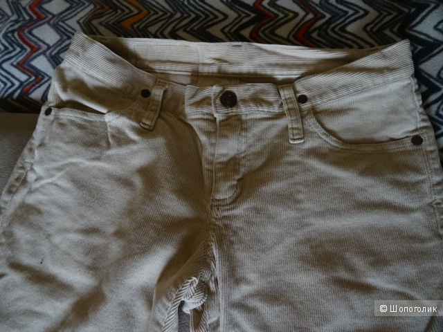 "Вельветовые брюки ""Benetton"", размер 42-44, б/у"