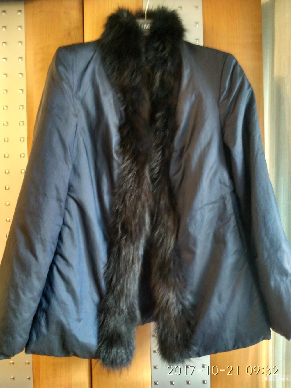 Женская синяя Куртка Domini размер 46