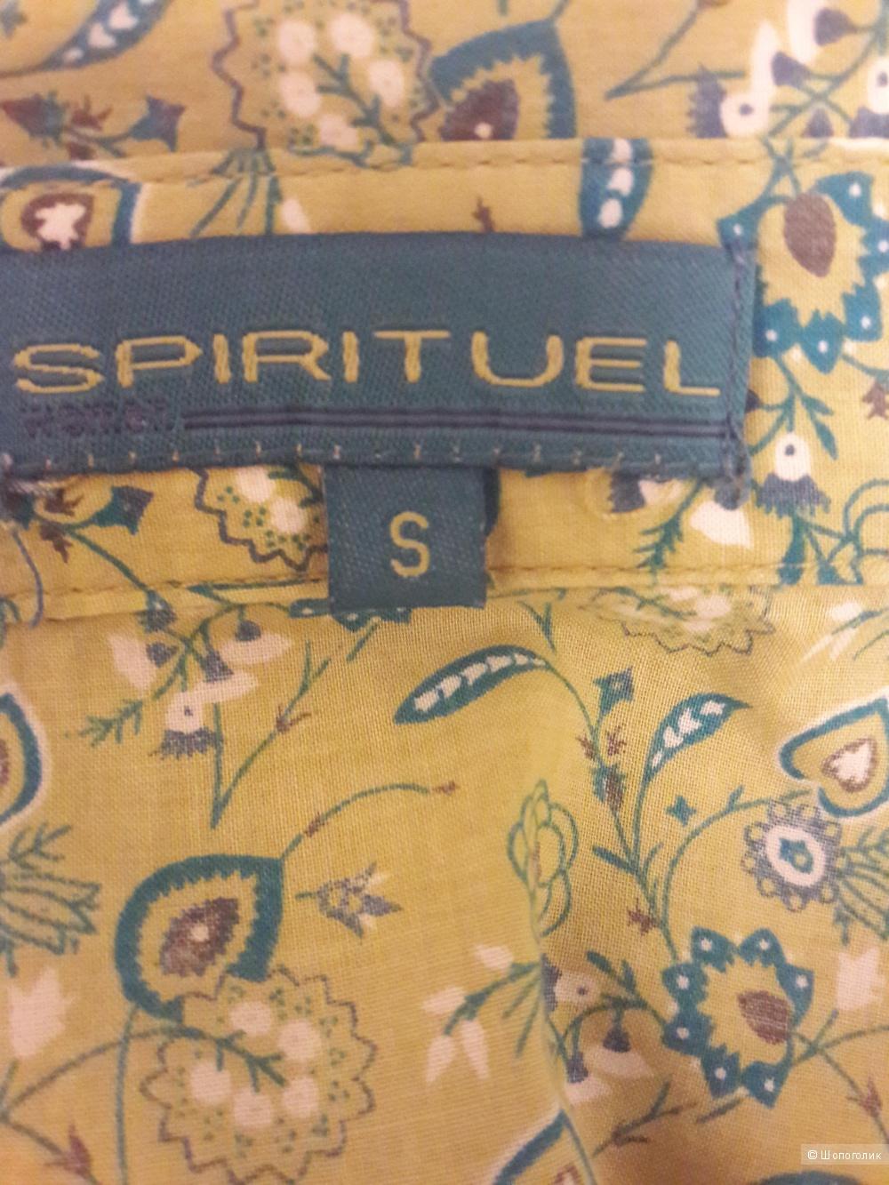 Spirituel: салатовая рубашка в мелкий цветочный принт, S