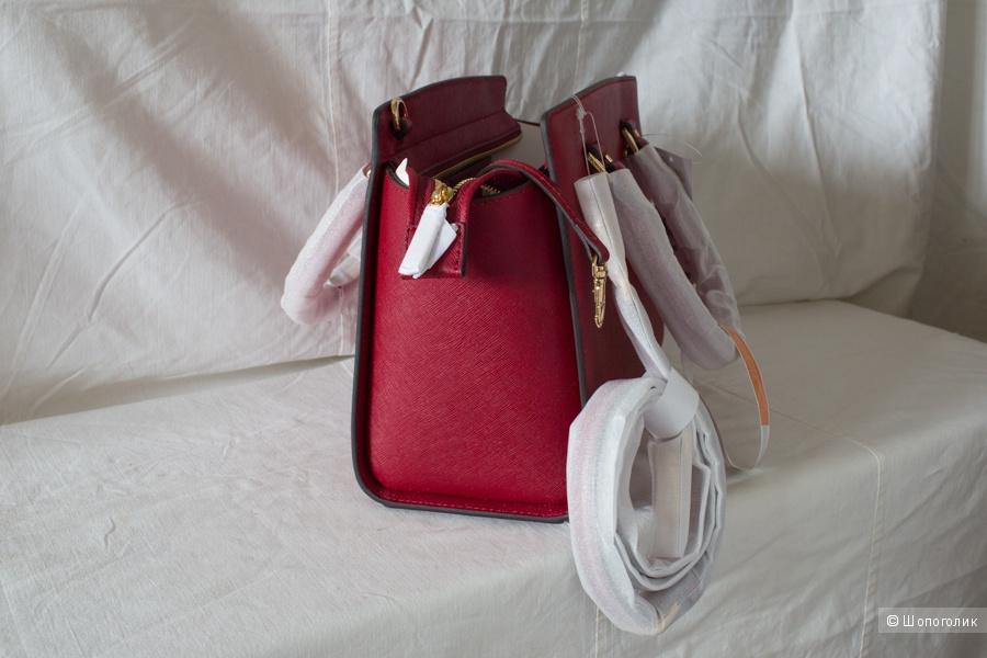 Сумка-портфель Michael Kors среднего размера (медиум), цвет вишневый