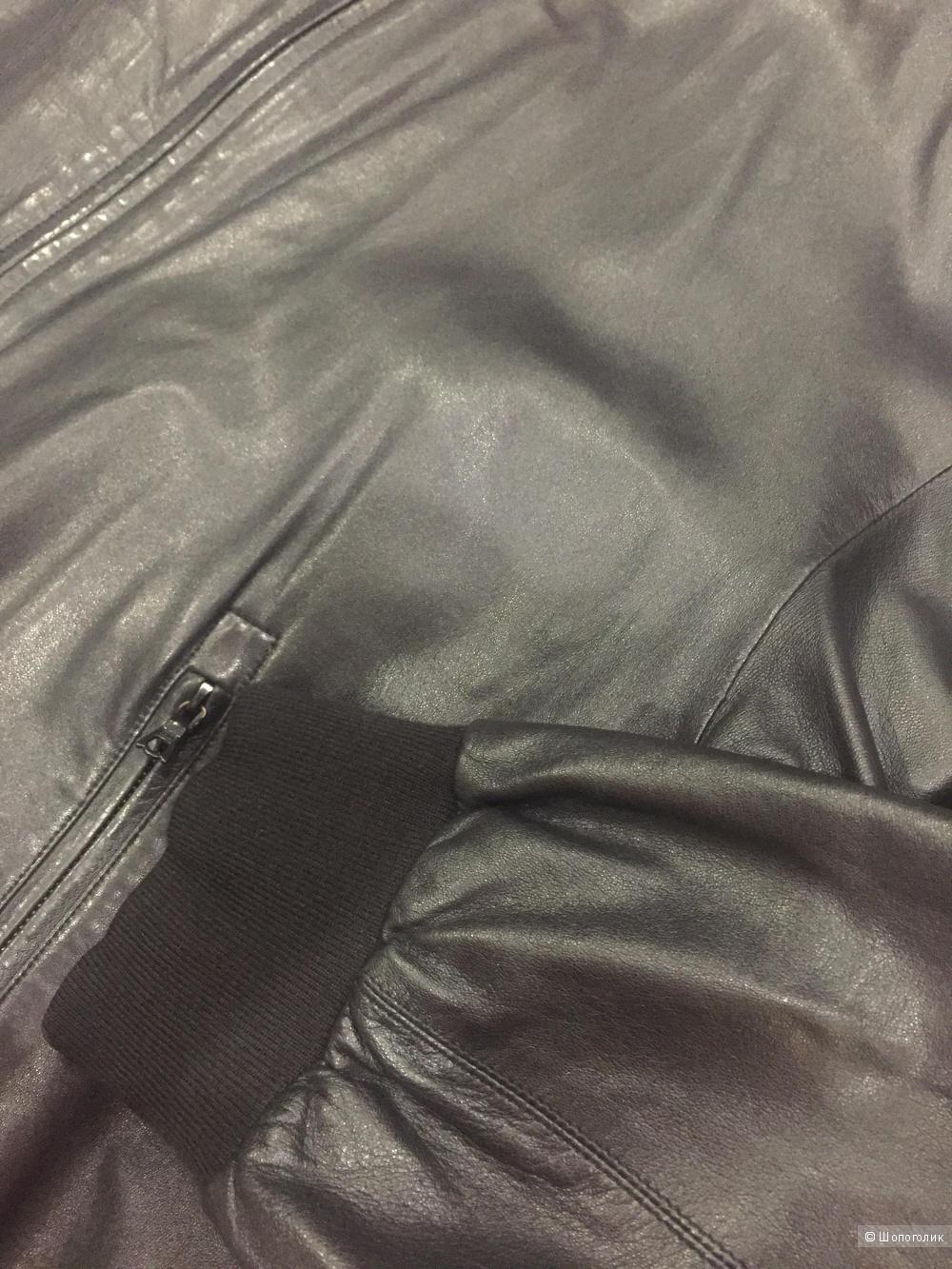 Мужская кожаная куртка Philippe Foubert 60 размер
