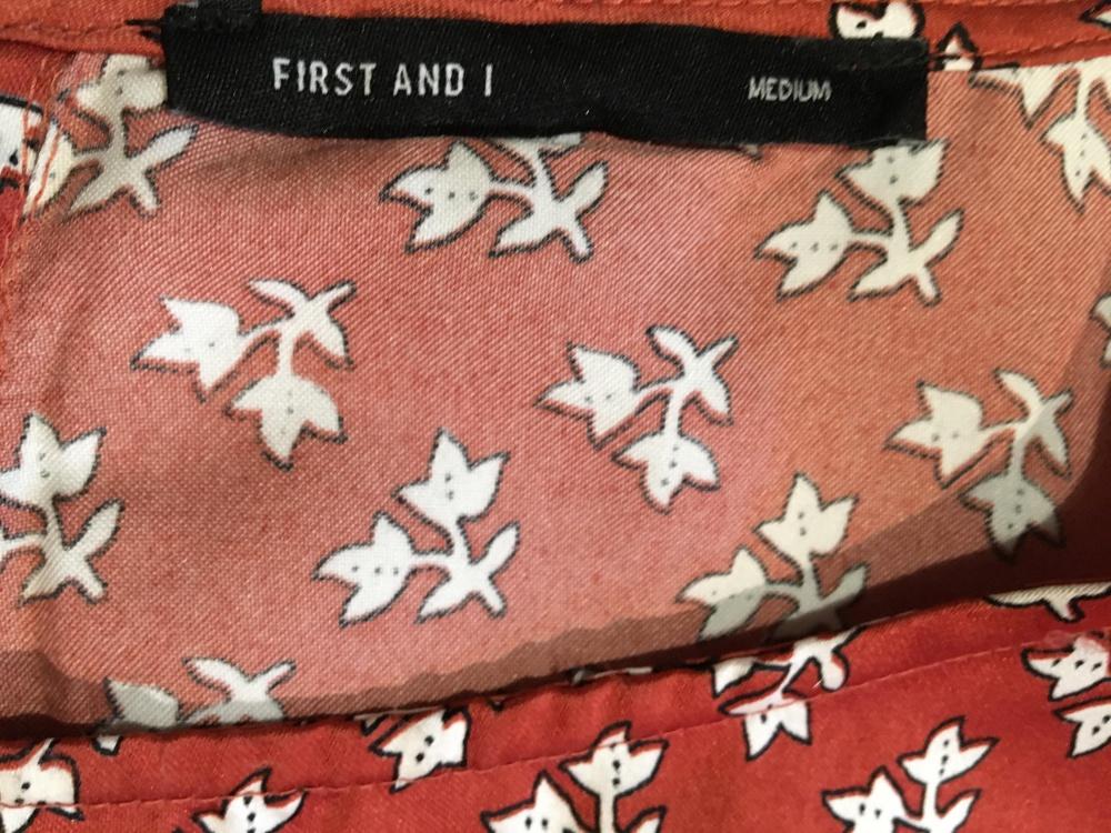 Цельнокройное платье с принтом First & I, размер M