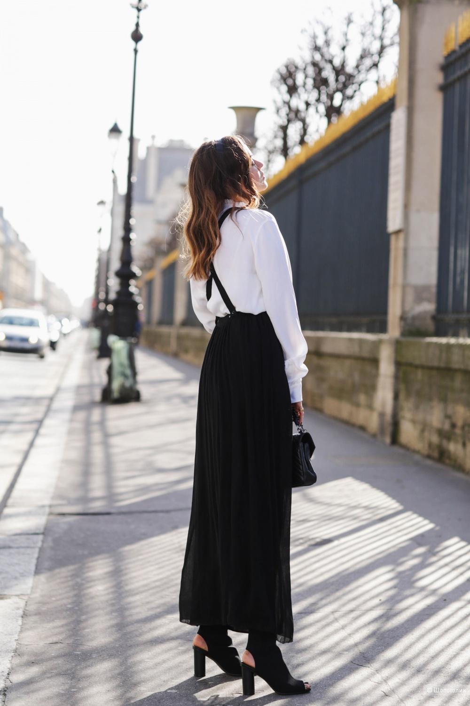 Шелковая юбка-сарафан HM STUDIO евро 34