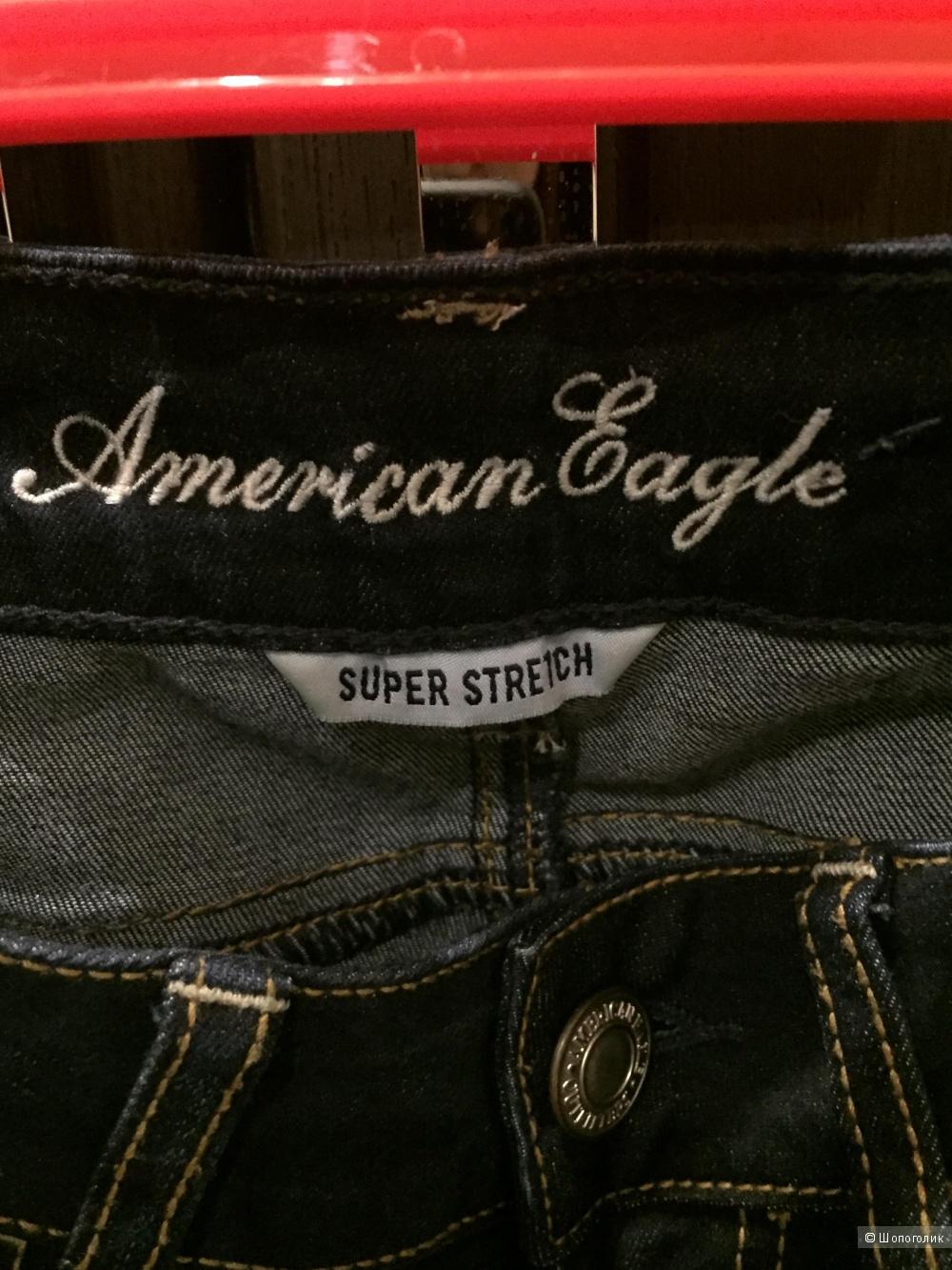 Джинсы American Eagle super stretch размер 00