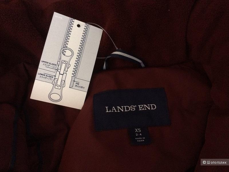Длинный пуховик Land's End размер 42-44