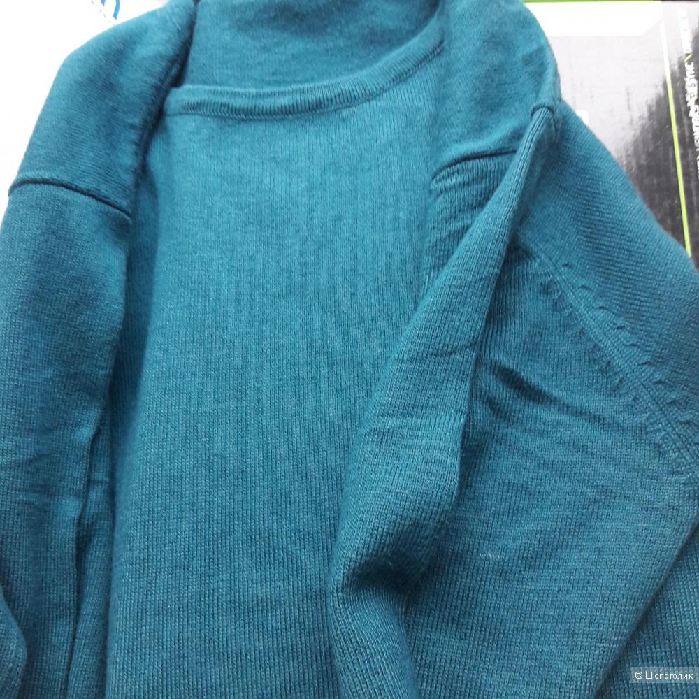 Свитер шерсть с кашемиром 46-48 размера