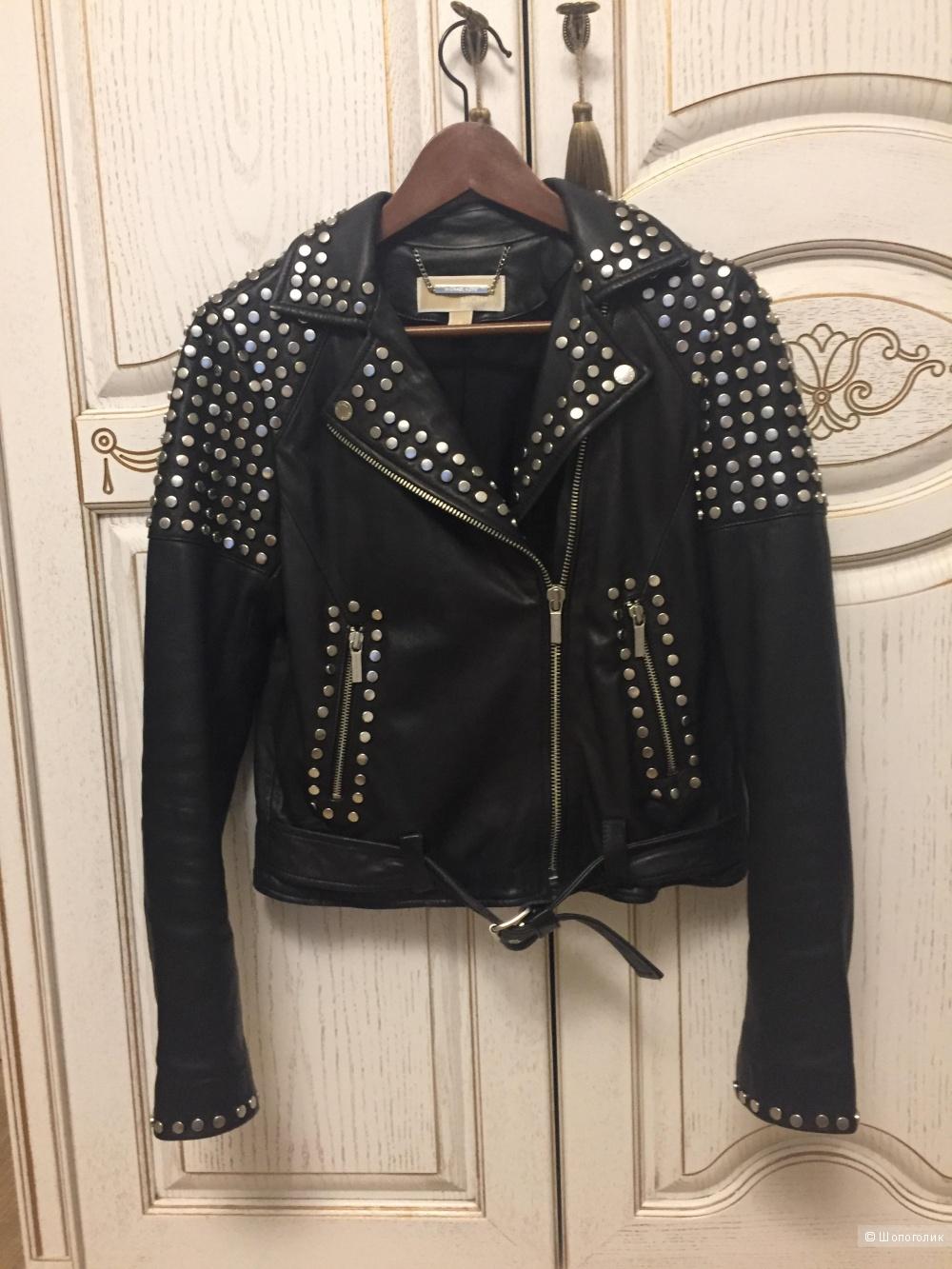 Кожаная куртка Michael Kors. Размер S. Оригинал.