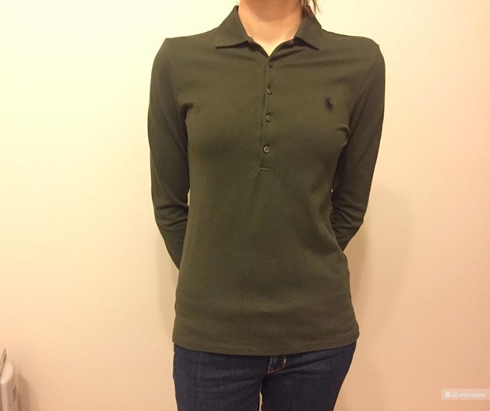 Поло Ralph Lauren с длинным рукавом, размер S, цвет Olive