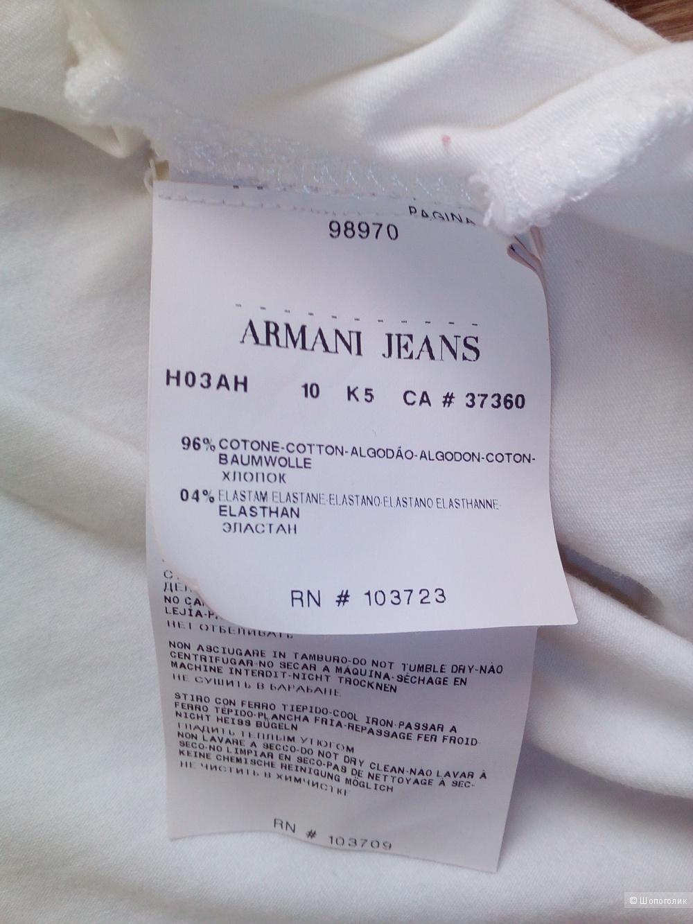 Футболка топ armani jeans. 44-46 размер.