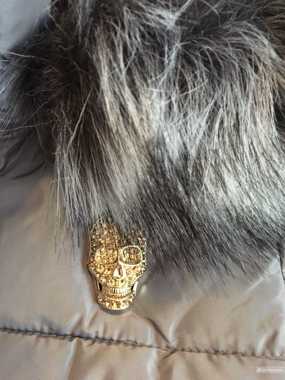 Пуховик- пальто Philipp Plein, размер 44-46, реплика