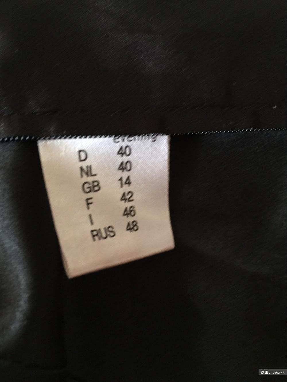Черный атласный топ в бельевом стиле LAURA SCOTT размер L