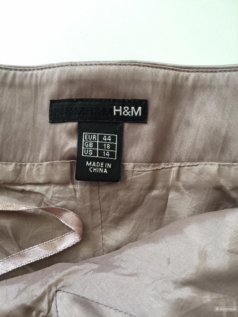 Вечерний  элегантный топ бежевого цвета марка H&M размер 48-50