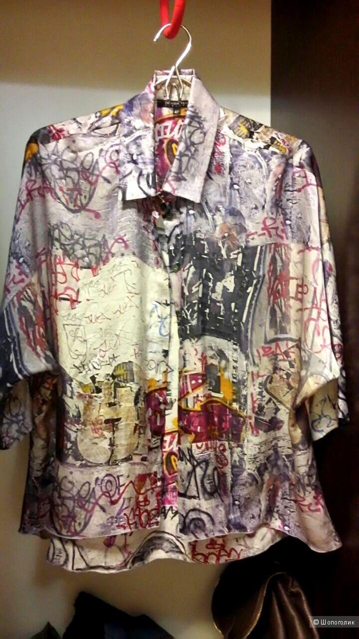 PATRIZIA PEPE шелковая рубашка 42 р.
