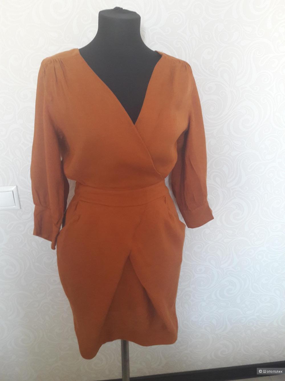 MANGO SUIT:  платье лен классика, М