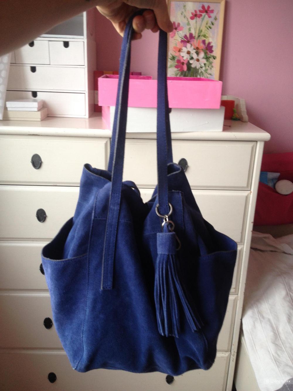 Замшевая сумка-мешок