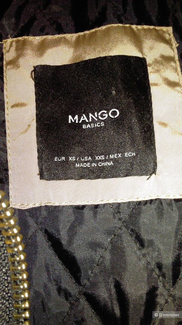 Пуховик Mango, размер XS, на невысокий рост.