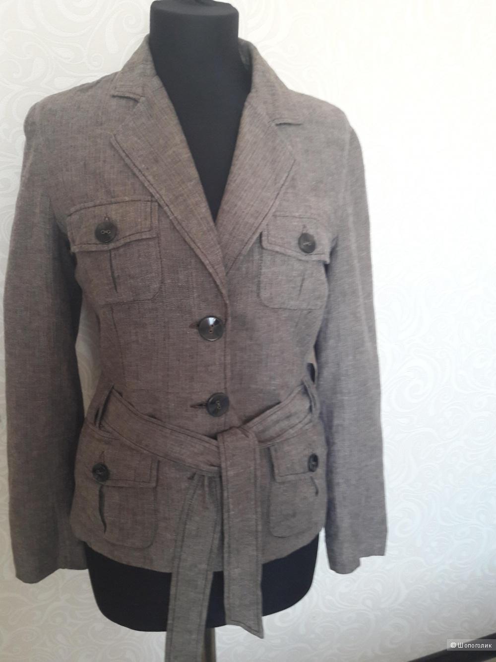 Француский пиджак-жакет из льна, М