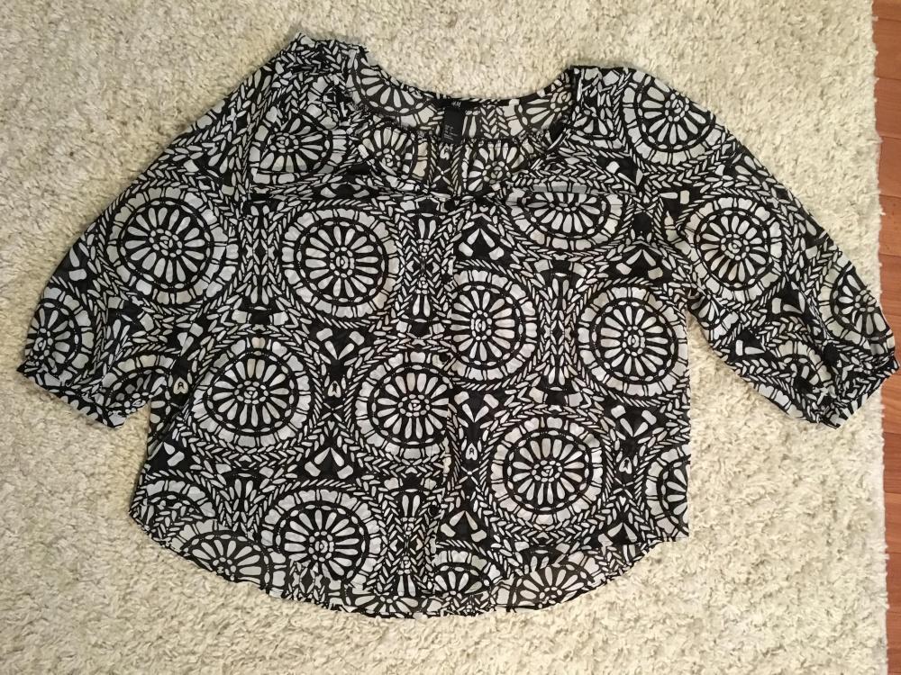 Шифоновая блузка H&M, размер S