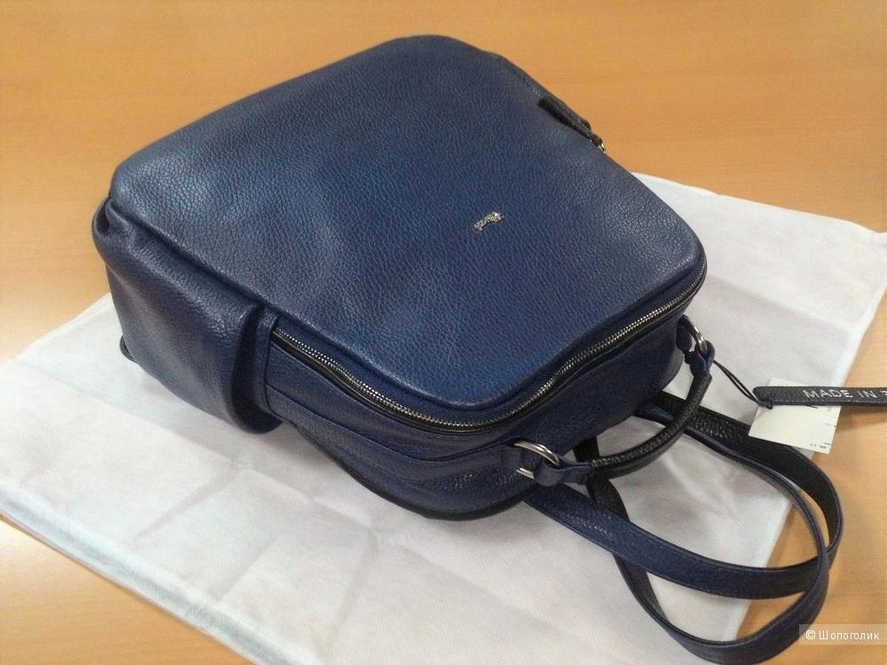 Новый мужской/унисекс рюкзак Bruno Rossi. Кожа, made in Italy