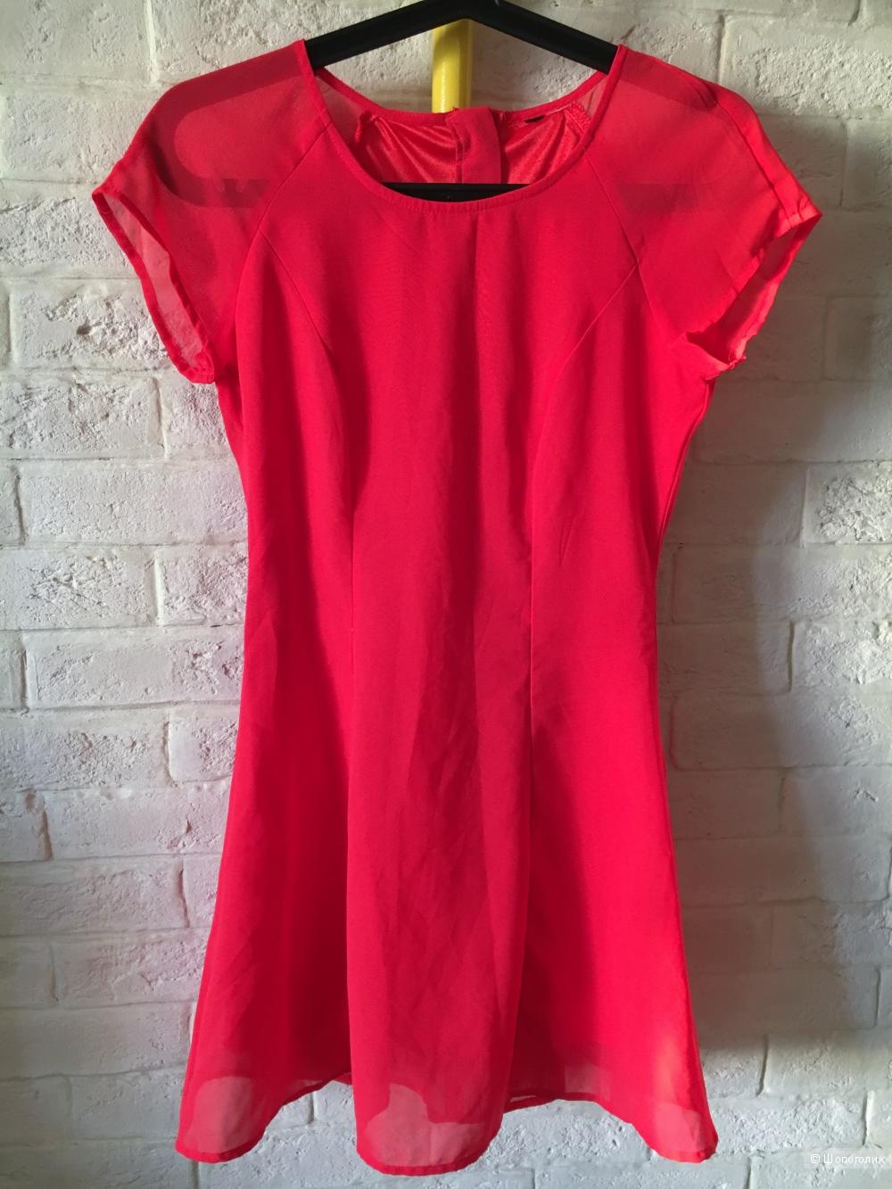 Красное платье H&M, размер XS