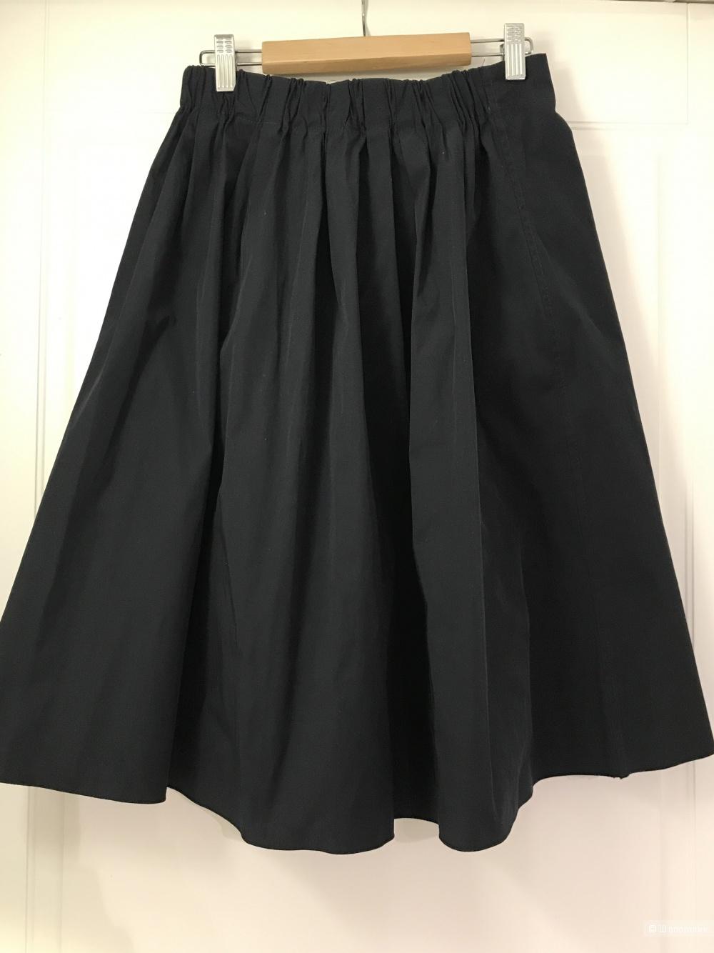 Темно-синяя юбка Zara размер S