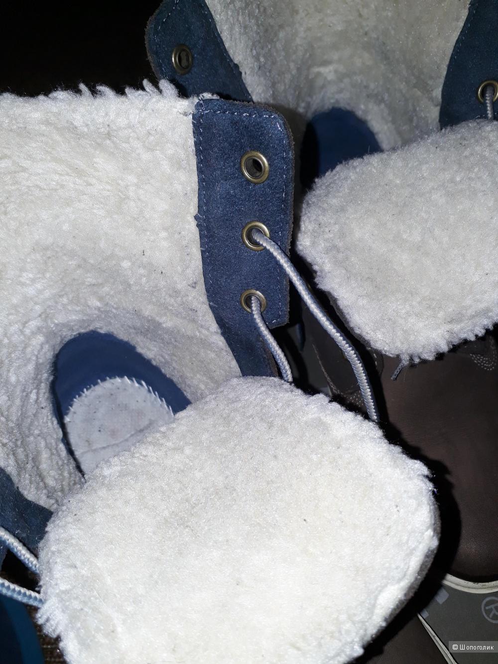 Ботинки Timberland 38,5, c мехом и утеплителем