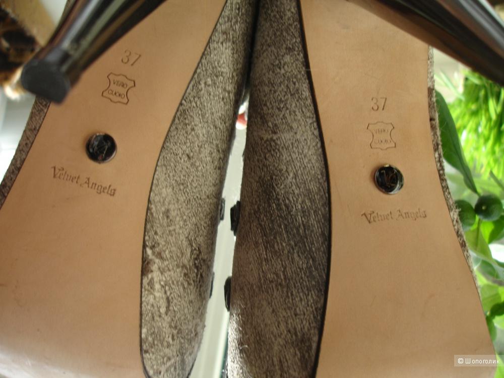Ботильоны Velvet Angels, полностью натуральная кожа, размер EUR 37, по стельке 24 см