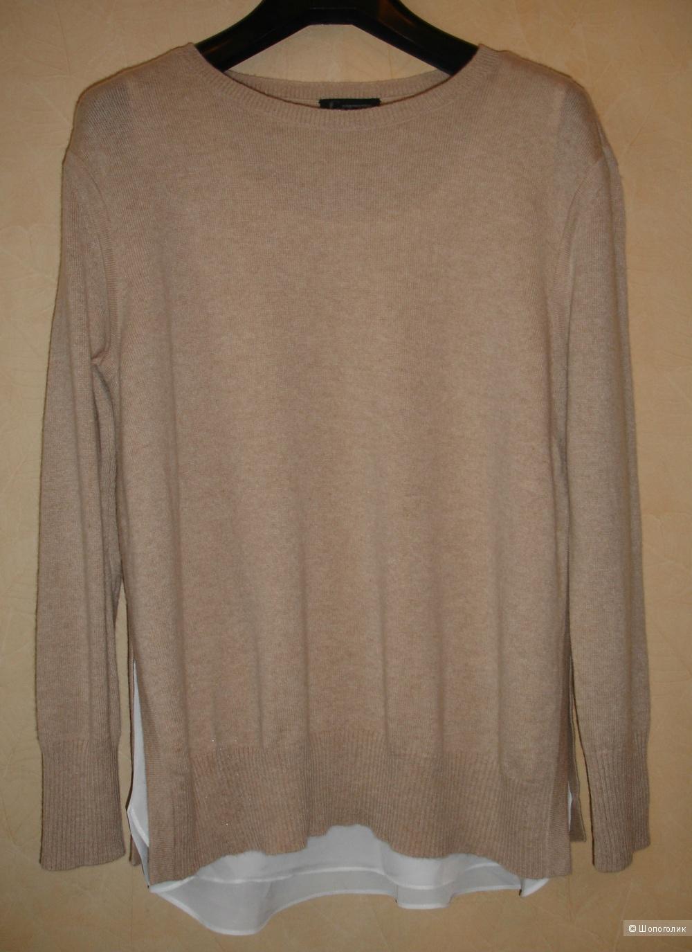 Кашемировый свитер с эффектом двухслойности C by Bloomingdale's, размер S-M, 100% кашемир, новый