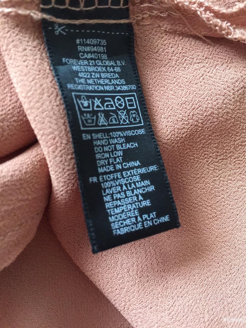 Шикарная рубашка сложного дизайна марки Love 21 размер s/m