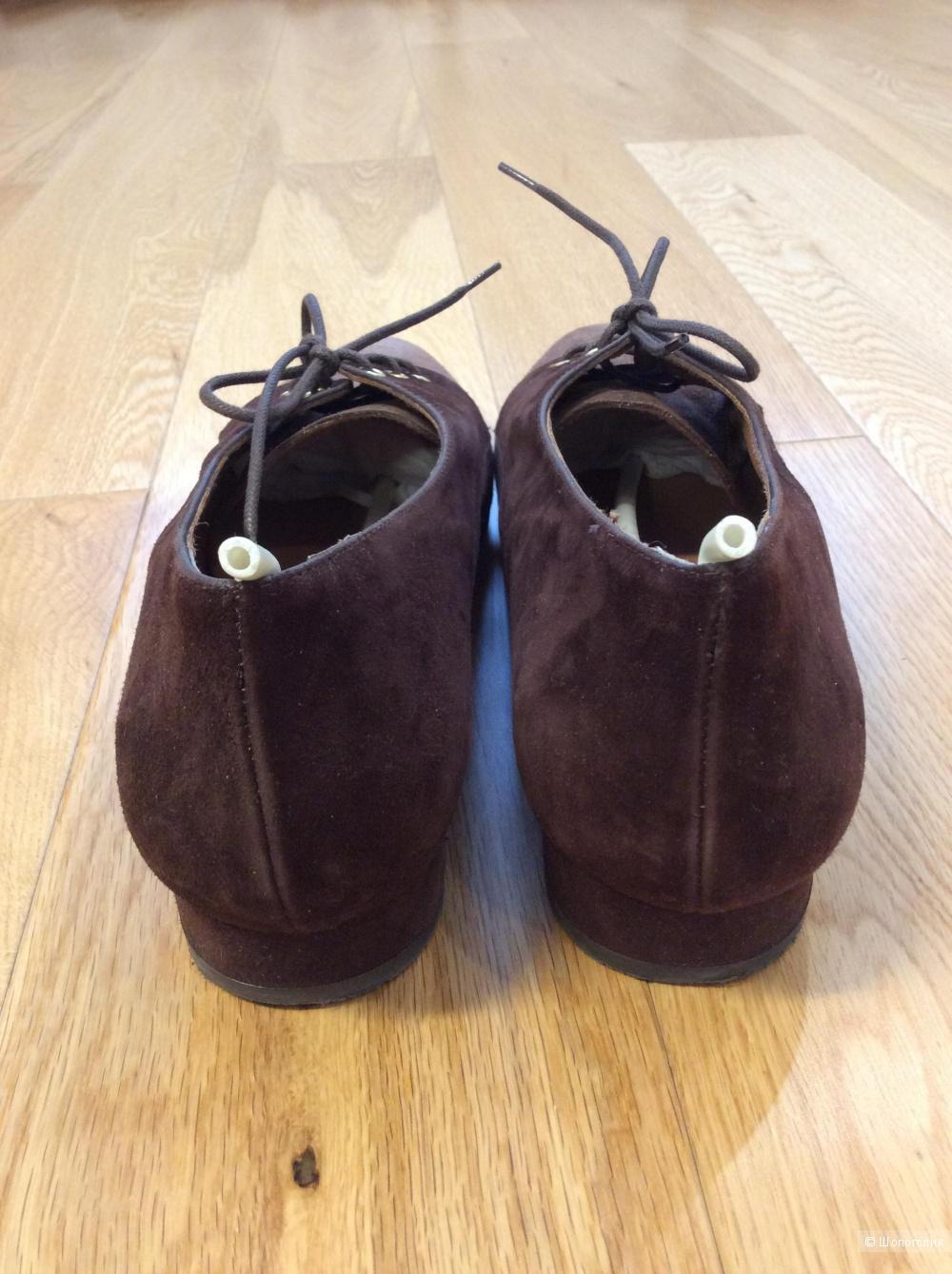 Туфли на шнурках из замши Pedro Anton (Испания) р.40