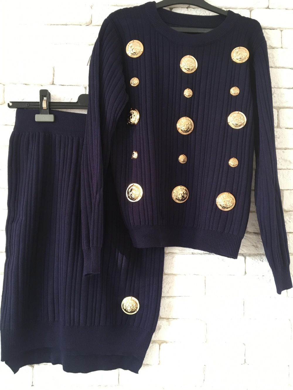 Юбочный костюм Versace, S, стрейч