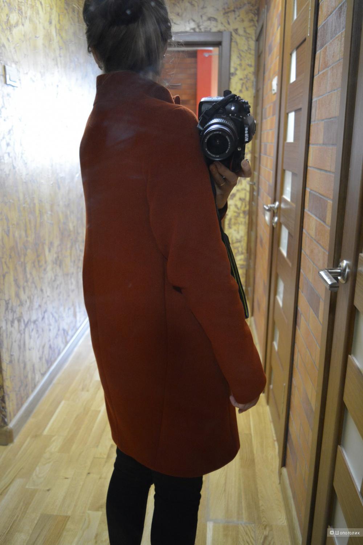 Пальто кокон 40 размер