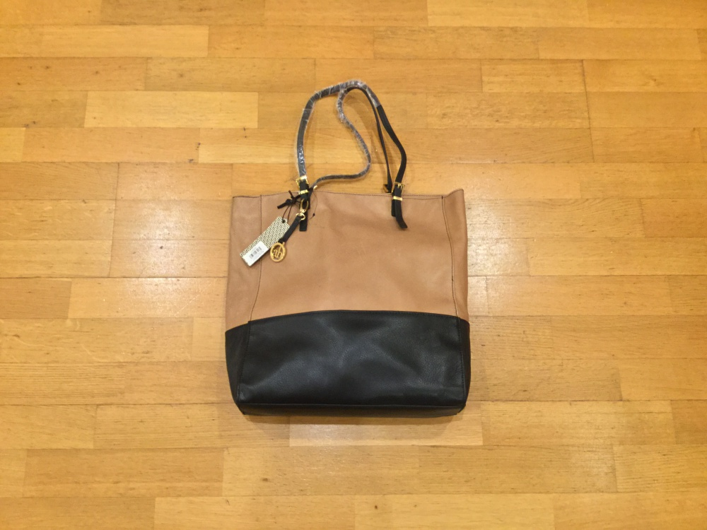 Новая двухцветная кожаная сумка Audrey Brooke