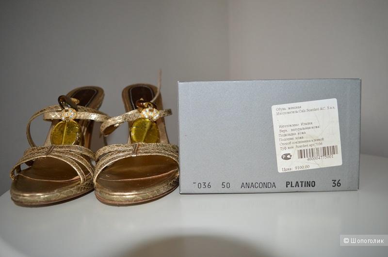 Босоножки  женские, Италия , бренд SCARDAVI, размер 36.