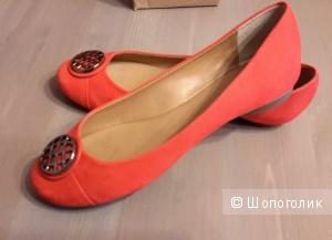 Балетки Dumond красно-кораллового цвета размер 39 на 38