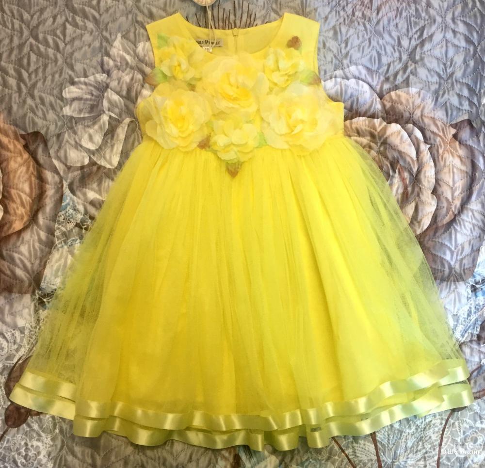 Новое нарядное платье Noble People размер 104.