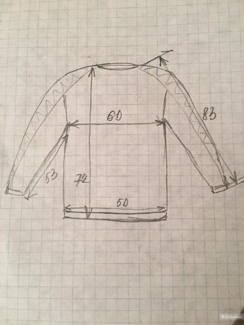 Джемпер шерстяной, размер 52-54