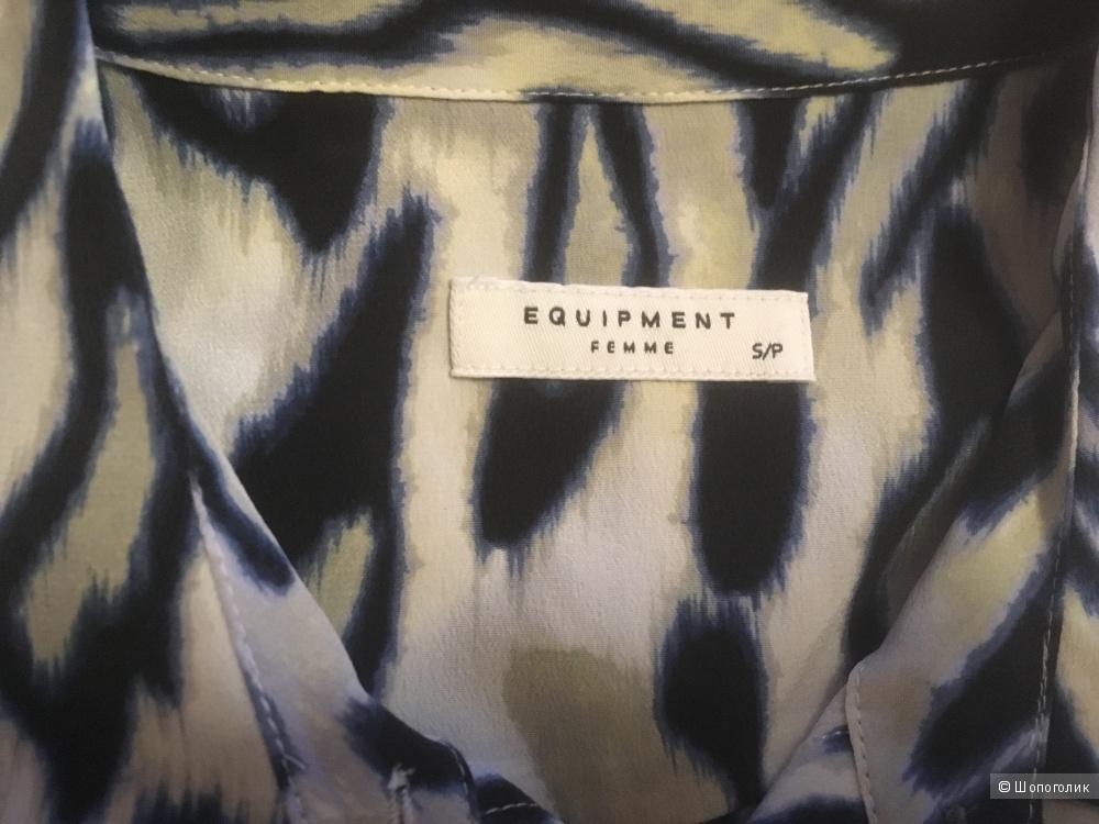 Шелковое платье-рубашка, EQUIPMENT FEMME, размер S, новое с бирками