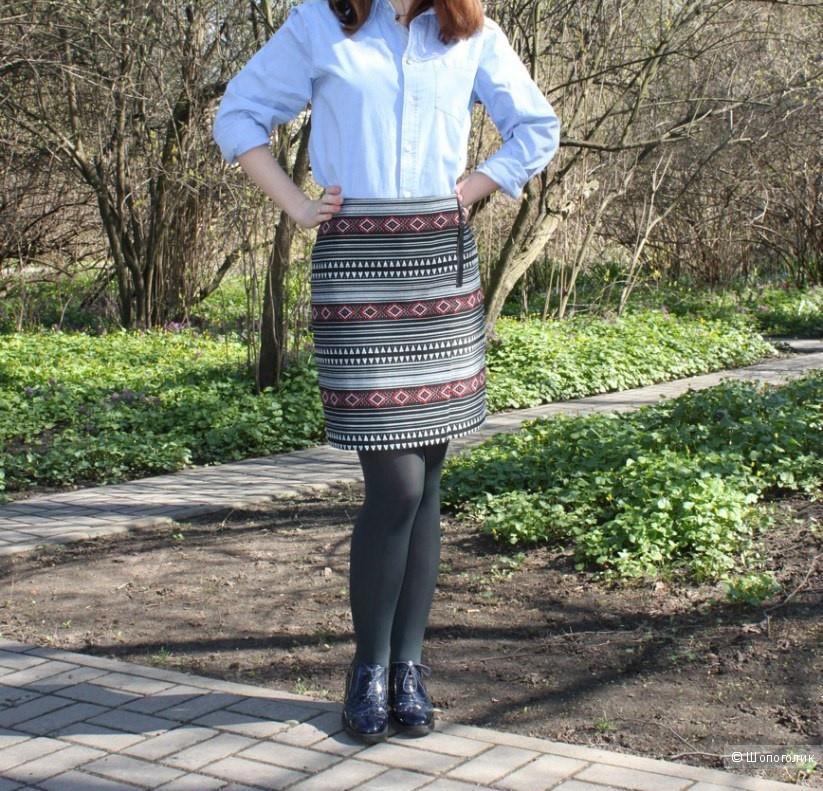 Текстурная модная юбка MARKS & SPENCER (ПОТ = 36 см)